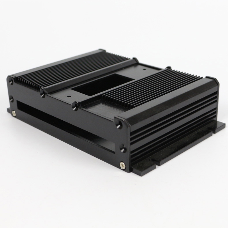 Aluminum extrusion machined enclosure